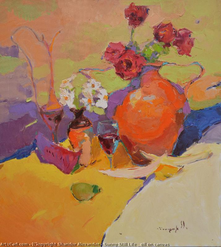 Art by Shandor Alexander : Shandor Alexander - sunny still life _ oil on canvas
