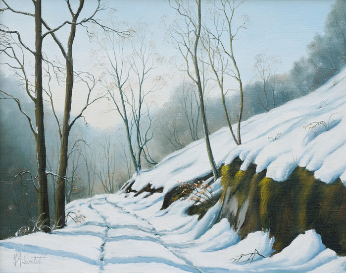 Artwork >> Lambot Jean-Marie >> Path in the snow