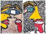 Mirit Ben-Nun - Craft psychedelic artist modern drawing by face of woman for sale