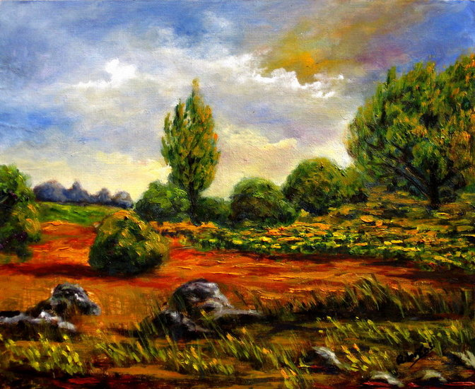 Artwork >> Remigio Megías García >> Field with sunflowers
