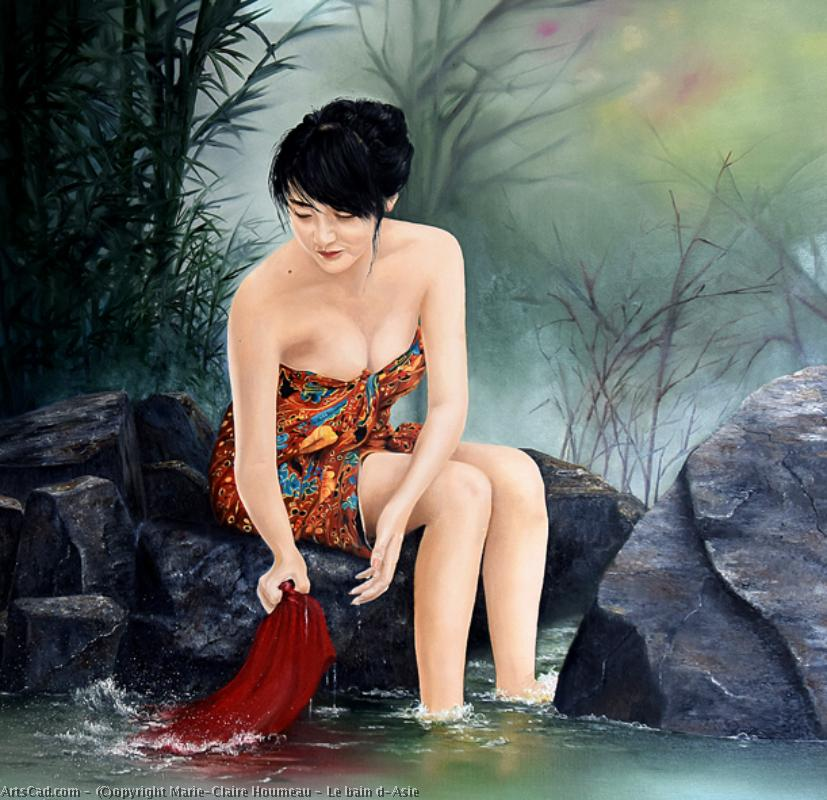 Artwork >> Marie-Claire Houmeau >> The bath of Asian