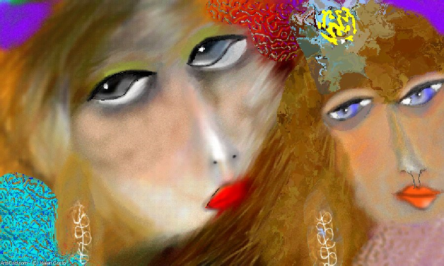 Artwork >> Helen Costo >> 2 women 8