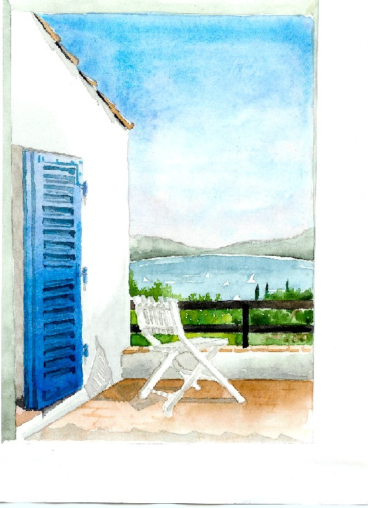Artwork >> Corinne Hentschel >> the door Blue