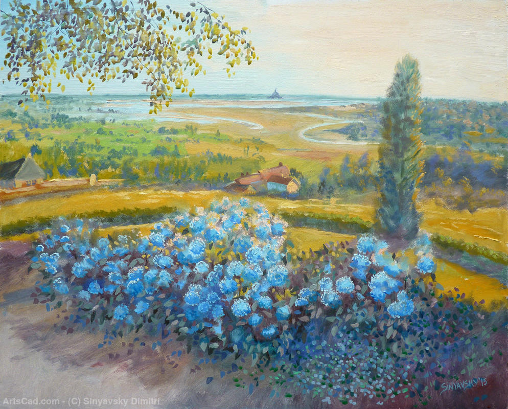 Artwork >> Sinyavsky Dimitri >> View from the bay , of the garden plant d'Avranches