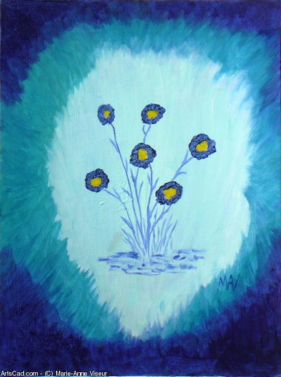 Artwork >> Marie-Anne Viseur >> blue flowers