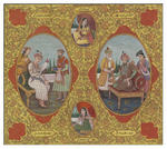 Classical Indian Art Gallery - KURSINAMA - 1 (Humayun - Akbar with their Consorts)
