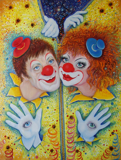 Artwork >> Светлана Кисляченко Jam-Art >> Clowns Sun