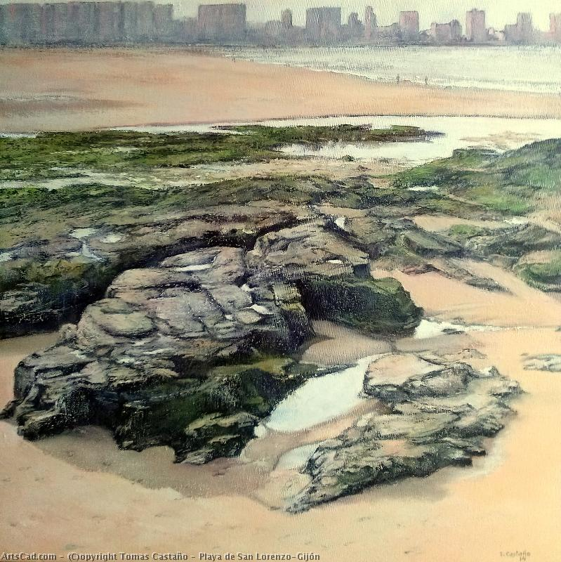 Artwork >> Tomas Castaño >> Beach at Saint Lorenzo´Gijón
