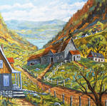 Richard T Pranke - Charlevoix Valley Large original oil painting