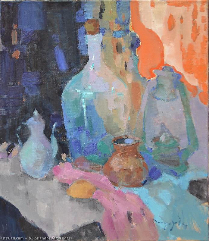Artwork >> Shandor Alexander >> Bottle and lamp