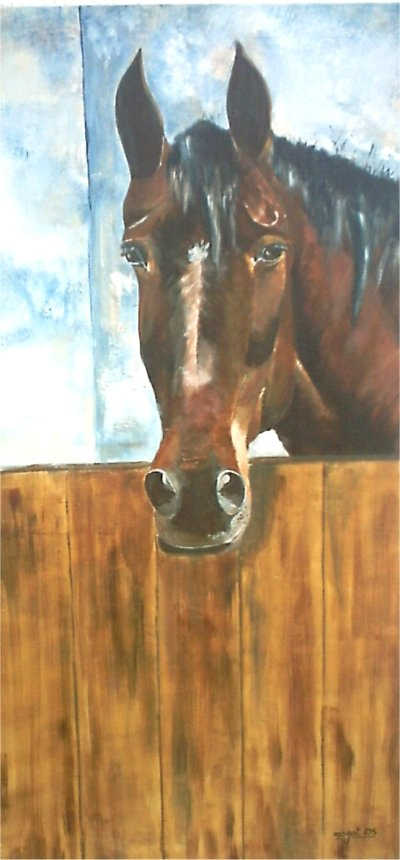 Artwork >> Jean-Claude Mogat >> Stabled horses