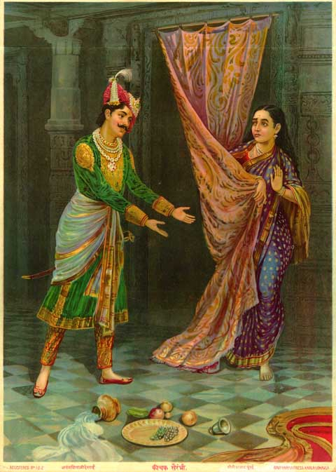 Artwork >> Classical Indian Art Gallery >> OLEOGRAPH PRINT by RAVI VARMA