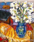 Chevassus-Agnes - IRIS ON RIBBON YELLOW