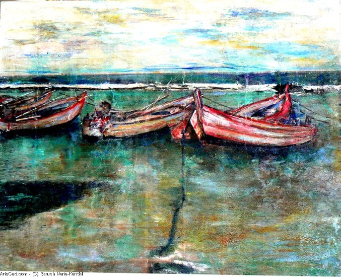 Artwork >> Baruch Neria-Kandel >> Fishers boats