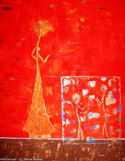 Artwork >> Perrine Malines >> woman red