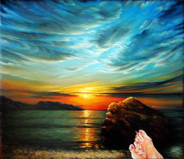 Artwork >> Luljeta Pineti >> The west coast of Vlora