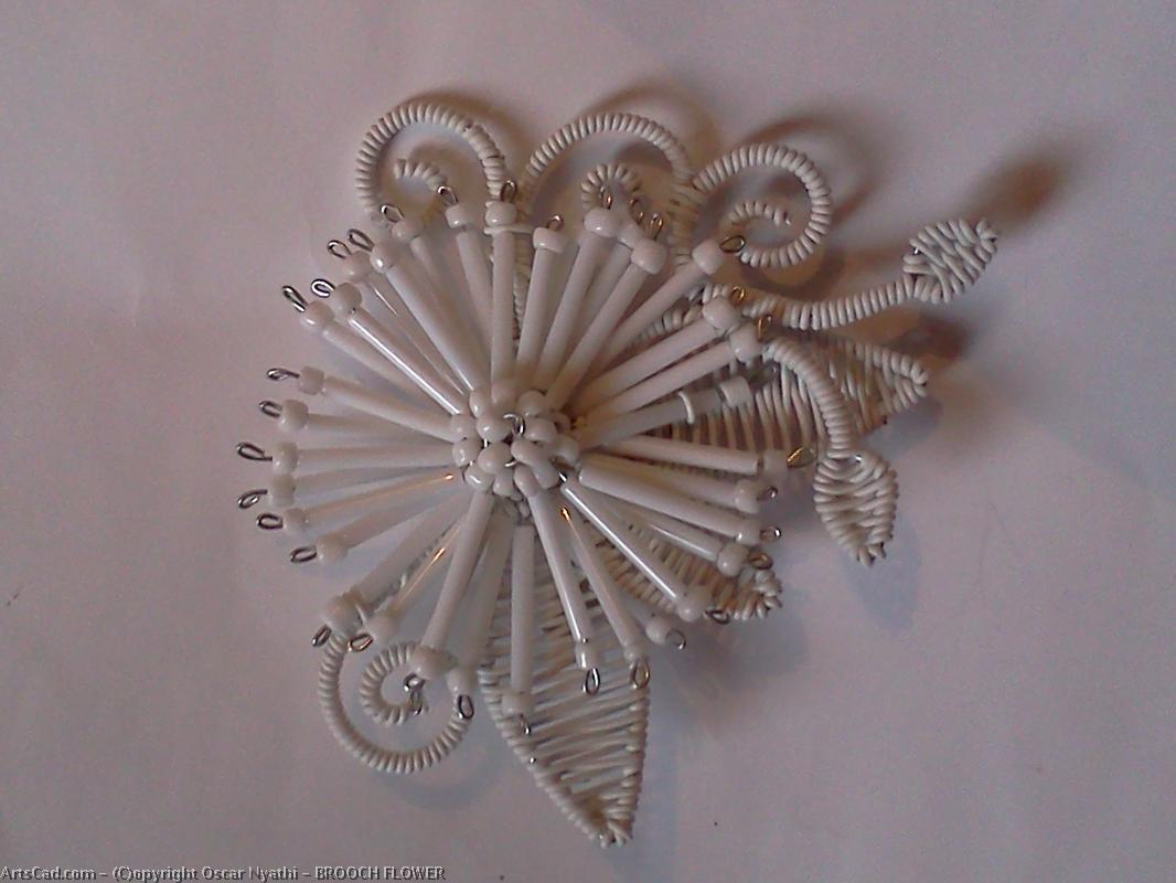 Artwork >> Oscar Nyathi >> BROOCH FLOWER