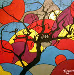 Stephane Texereau Art - color tree bis
