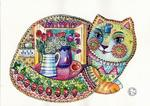 Oxana Zaika - cat home decor  SOLD.