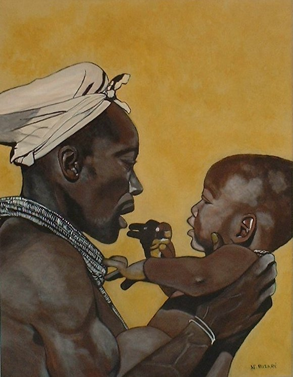 Artwork >> Buzaré Nathalie >> Father and son