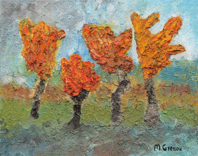 Artwork >> Marc Grenou >> Four trees