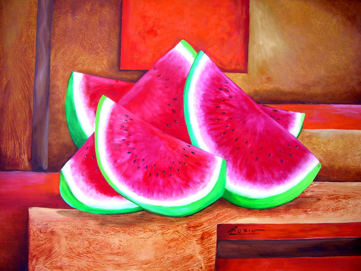 Artwork >> Yolanda Rubín >> Watermelons