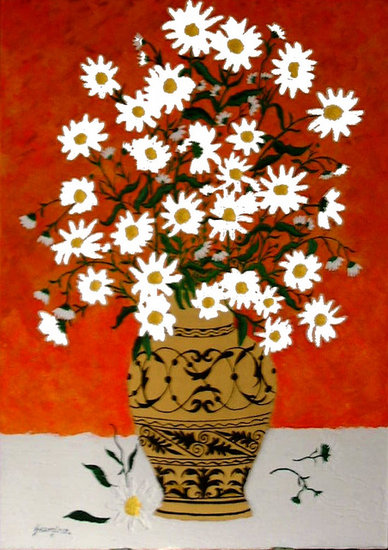 Artwork >> Paradis Studio >> Daisies in a Grecian Vase