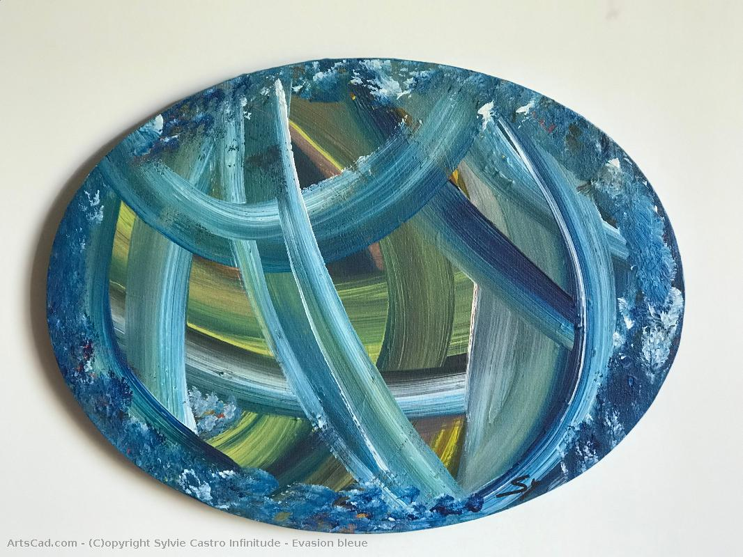 Artwork >> Sylvie Castro Infinitude >> escape Blue