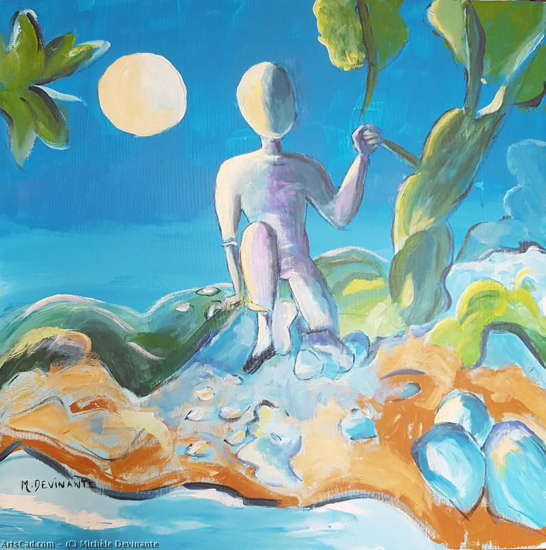 Artwork >> Michèle Devinante >> WALK TO CAIR MOON