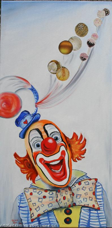 Artwork >> Sylviane Petit >> CLOWN THE BALLOONS