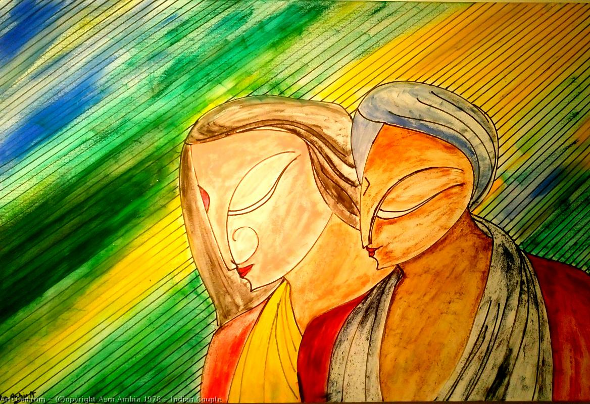 Artwork >> Asm Ambia 1978 >> Indian Couple