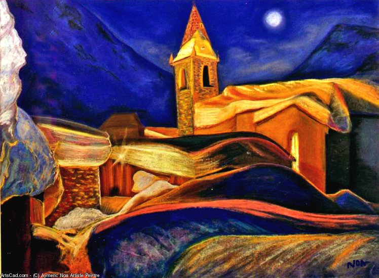 Artwork >> Aymeric Noa Artiste Peintre >> the little chapel
