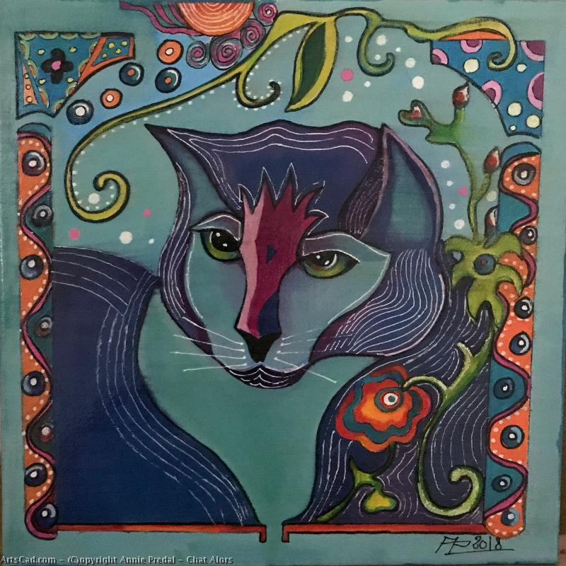 Artwork >> Annie Predal >> cat then