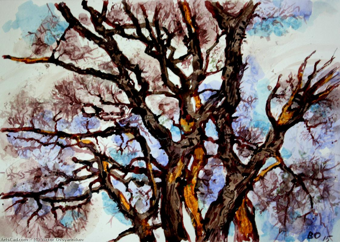 Artwork >> Victor Ovsyannikov >> dead trees near stanford