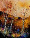 Pol Ledent - three Poplar trees