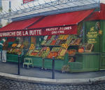 Marie-Claire Houmeau - At marketplace from  there  montmartre