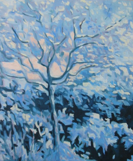 Artwork >> Jacques Fontan >> Lagestremia in bloom of snow .