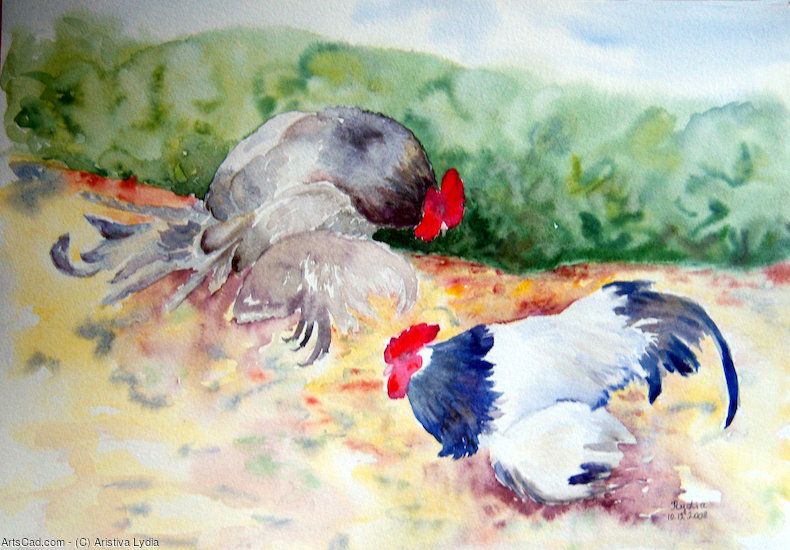 Artwork >> Aristiva Lydia >> The Cockfight