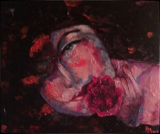 Artwork >> Annie Predal >> one pretty  flower  up in  mouth  bevy  private