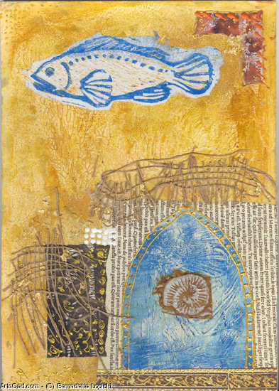 Artwork >> Bernadette Lopicki >> gate Blue  at the  fish in