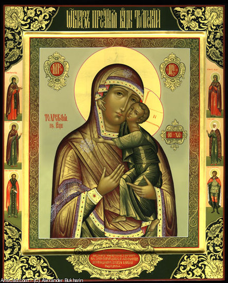 Artwork >> Alexander Bukharin >> Tolga icon of the Mother of God