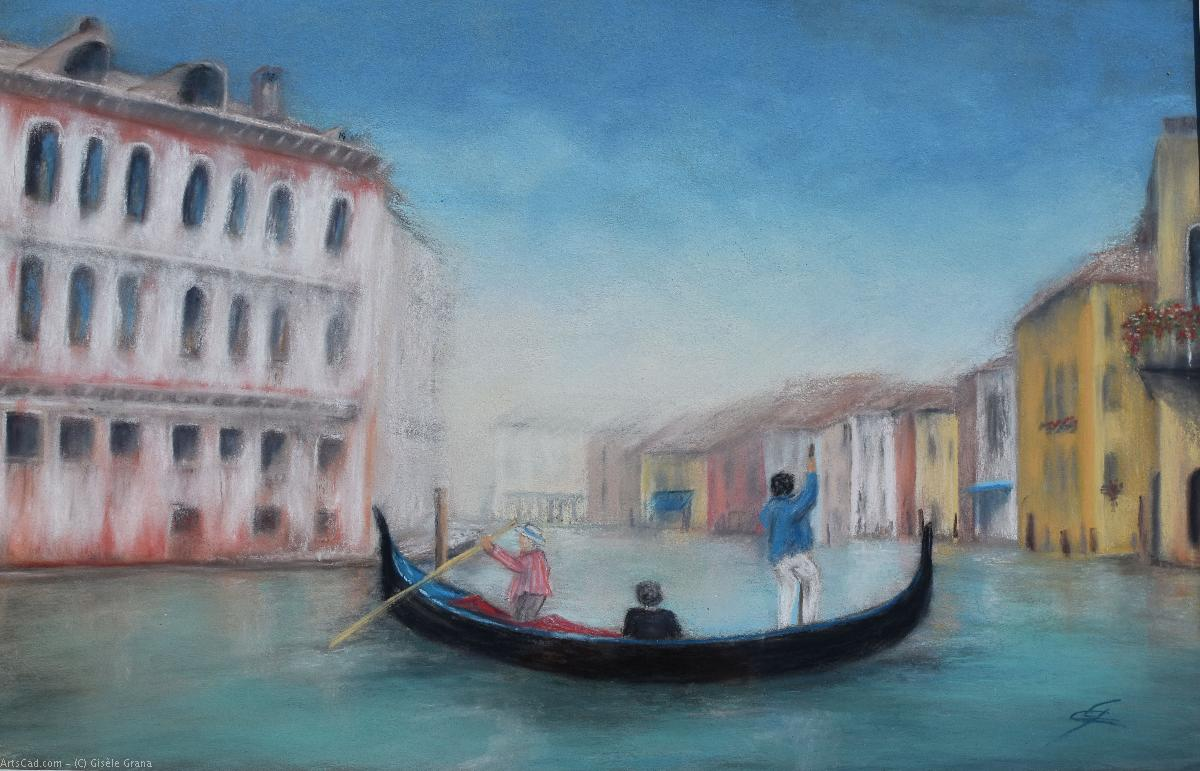 Artwork >> Gisèle Grana >> The gondoliers