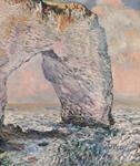 Otakar Hudeček - The rocks in Etretat, copy of work of Claude Monet