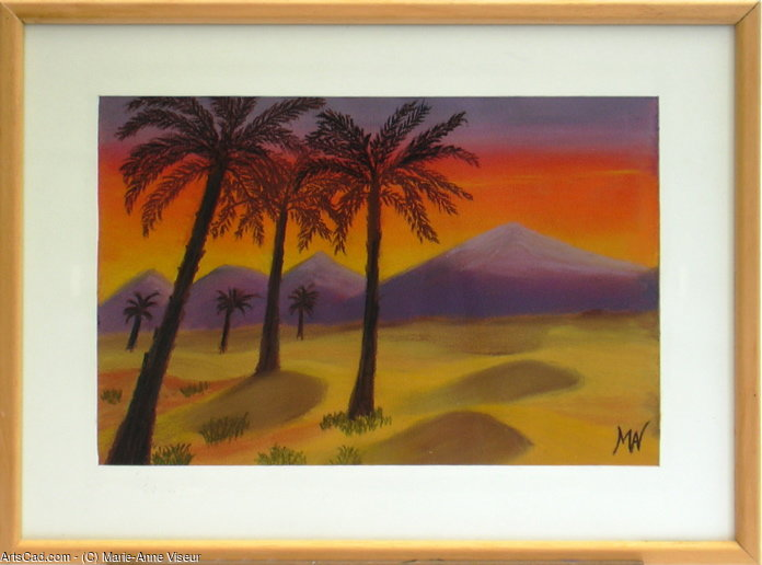 Artwork >> Marie-Anne Viseur >> Sunset over the Atlas.