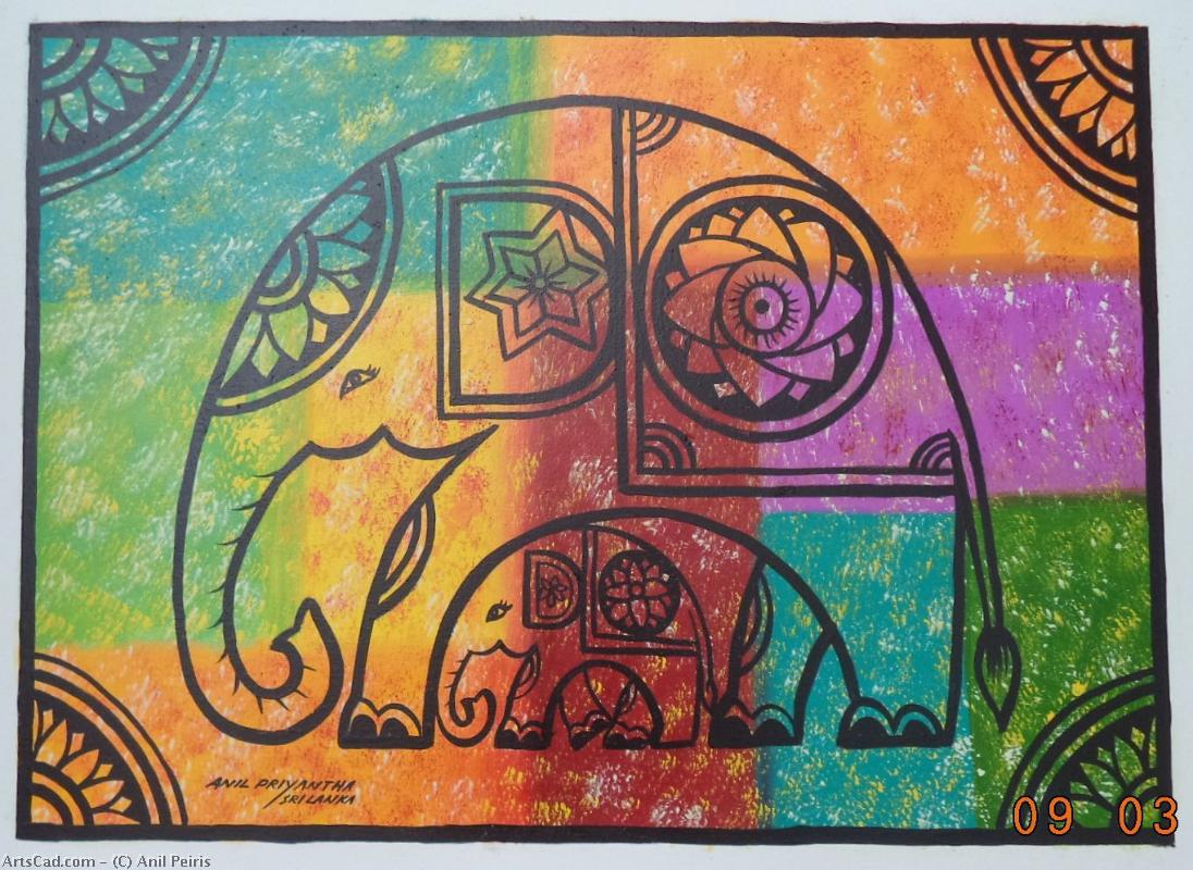 Artwork >> Anil Peiris >> Colorful Elephant