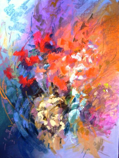 Artwork >> Michele Frot >> flowers that fall