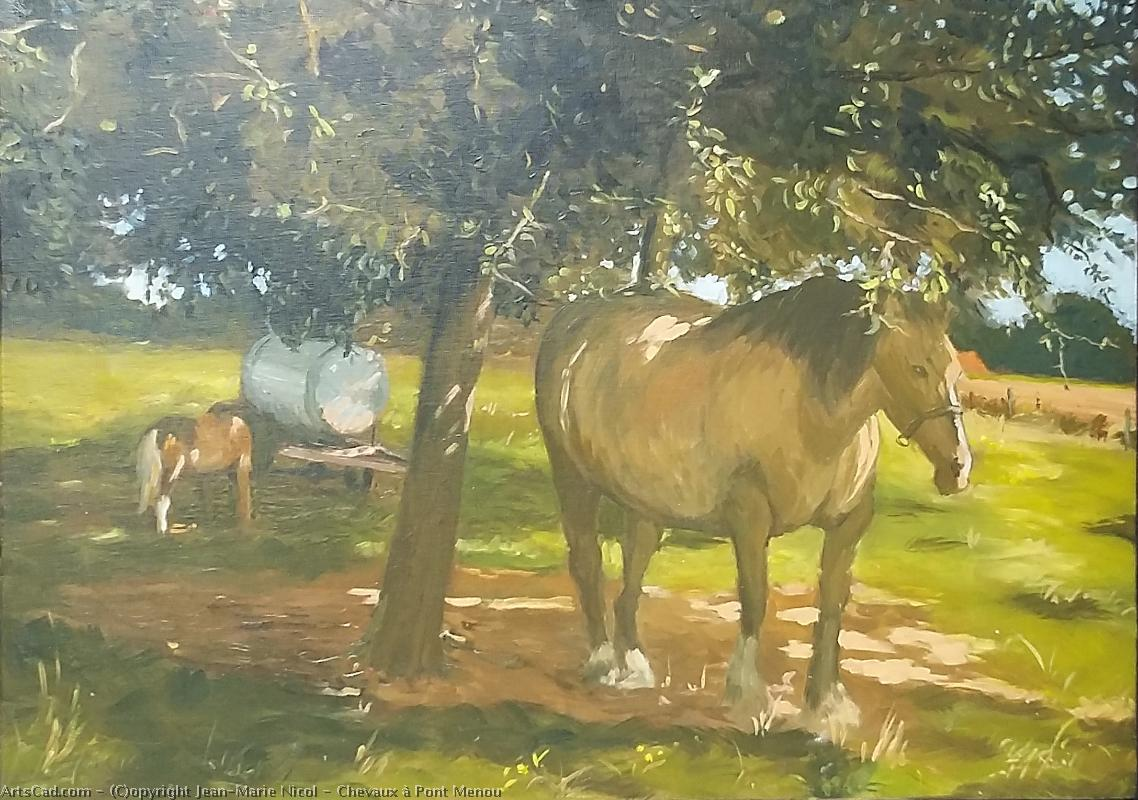 Artwork >> Jean-Marie Nicol >> horses in pont menou
