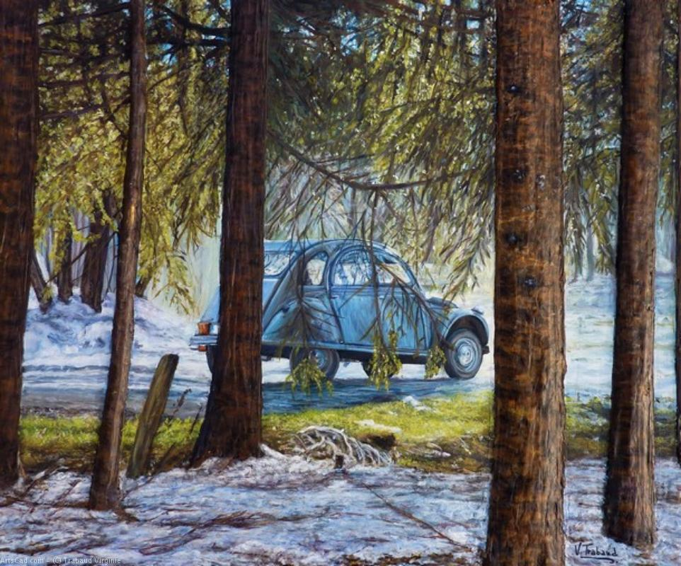 Artwork >> Trabaud Virginie >> at the Oree  of the  Wooden  -   2cv