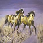 Iris Piraino - two horses