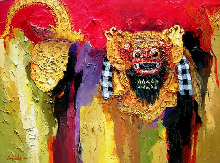 Artwork >> Asep Leoka >> Barong Dance